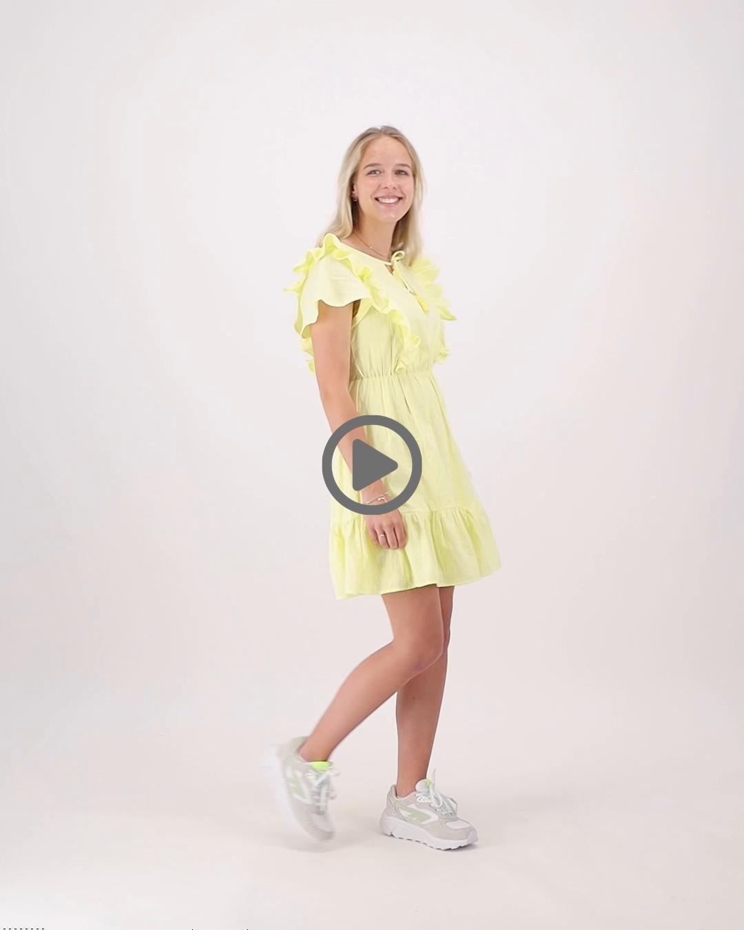 Colourful Rebel 10397 - Viva Ruffle Mini Dress - Yellow